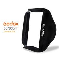 Godox Softbox 80 * 80cm 32x32 80x80cm Diffuser Reflector Softbox Bag Kit for Nikon Camera Studio Flash fit Bowens Elinchrom