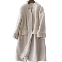 Real Fur Coat Wool Jacket Korean Autumn Winter Coat Women Clothes 2018 Sheep Shearling Fur Casual Women Tops Abrigo Mujer ZT1097