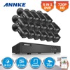 ANNKE 16CH HD TVI 1080P Lite CCTV Security System DVR With 16 720P Outdoor Fixed IP66