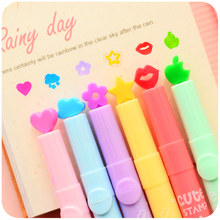 36 Pcs/Lot Nice Highlighter Color Stamp Marker Pens for Journal Notebook DIY Tools Zakka Stationery Office School Supplies A6285