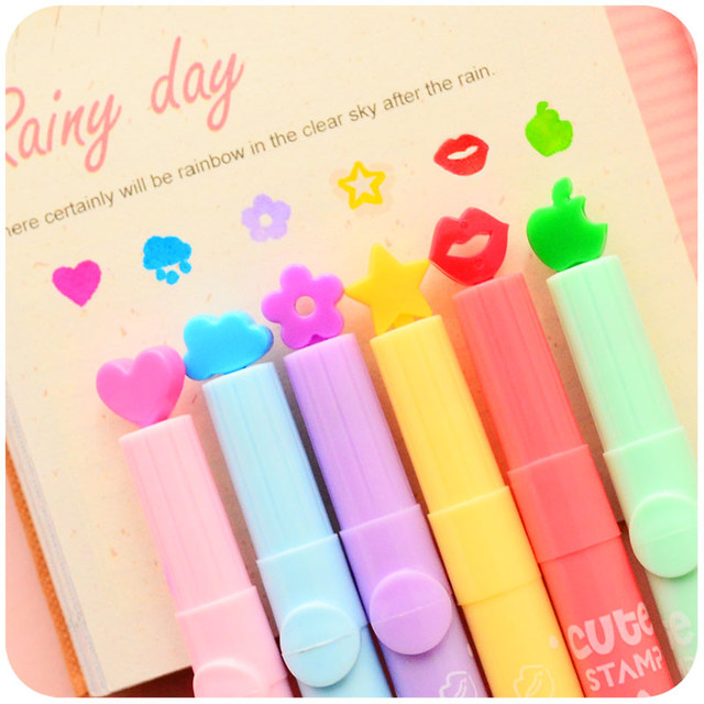 36 Pcs Lot Nice Highlighter Color Stamp Marker Pens DIY Scrapbooking Tools Zakka Stationery Canetas