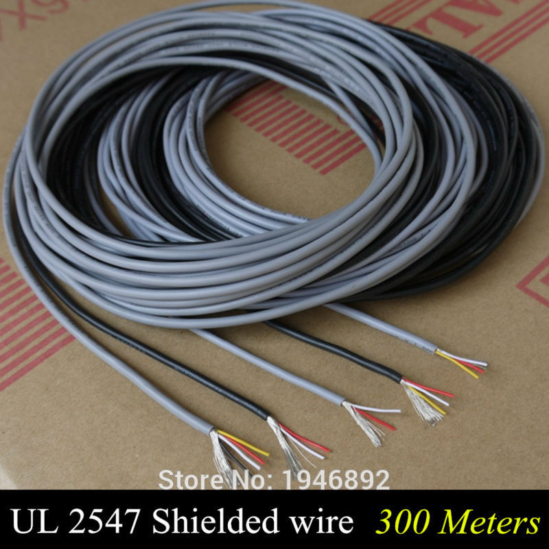 300m Ul 2547 28 26 24 Awg Multi Core Control Cable Copper