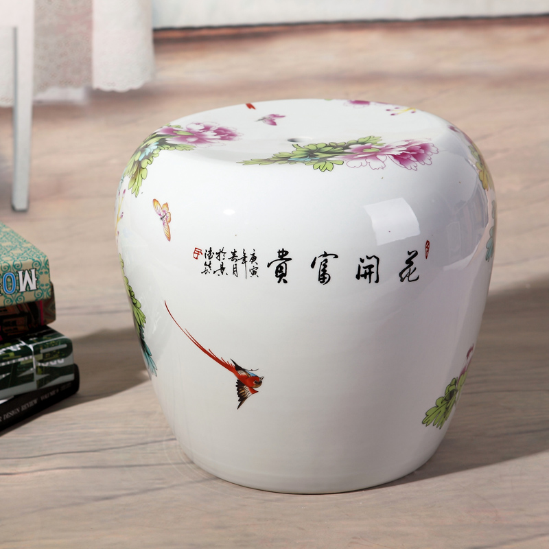 Small Fish Painting Jingdezhen Porcelain Garden Stool Ceramic For Dressing Table Drum Chinese Stools In Ottomans From