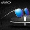 AFOFOO Алюминия Магния HD Поляризованные Очки Марка Дизайн Площадь Мужчины Вождения Солнцезащитные очки Мужчины UV400 Оттенки Goggle Очки