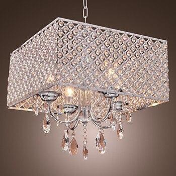 LED Di Cristallo Moderna lampade a Sospensione Lampada con Gocce di Cristallo in Piazza, Lustre De Cristal e Pendentes