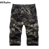 2017 Summer New Straight Drawstring Mens Camouflage Cargo Shorts