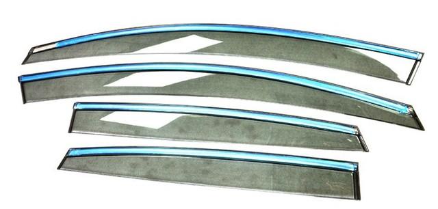 Ventana visor vent pegatina sun rain guardia lluvia shied inyección estilo de moldeo con mechón para Chevrolet Cruze 2009 2010 2011 2012