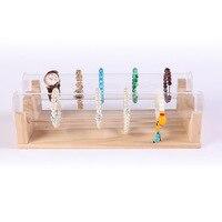DIY Acrylic Wood Watch Display Stand Bracelet Jewelry Rack Stackable Box Jewelry Organizer