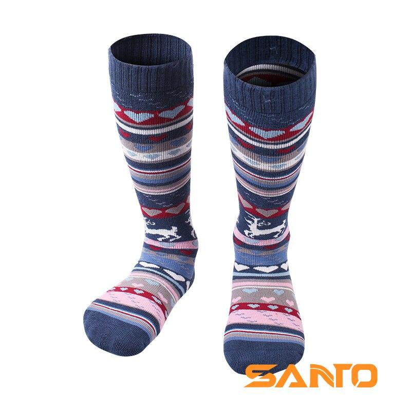 Prix pour Santo © tail s075/s076 enfants genou-haute extérieure garder au chaud respirant sport montagne randonnée ski vélo chaussettes une paire