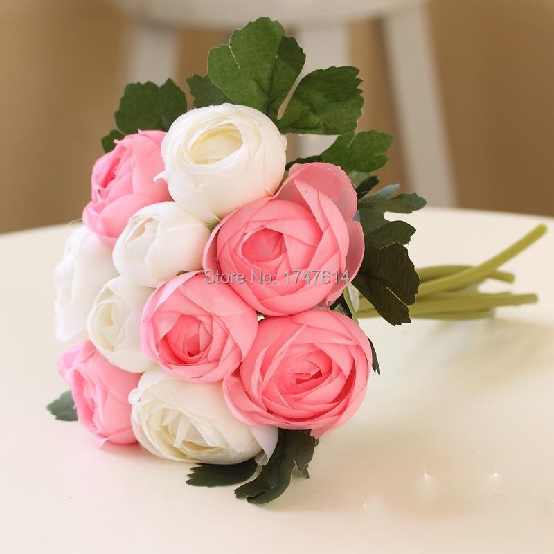 10 Headsbundle Dew Lotus Wedding Decoration Simulation Rose Bride
