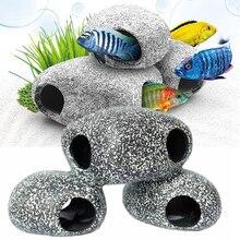 5Pcs Rock Cave Stone Decoration For Cichlids Fish Tank Pecute Cichlid Aquarium Ornament Shrimp Breeding Decor