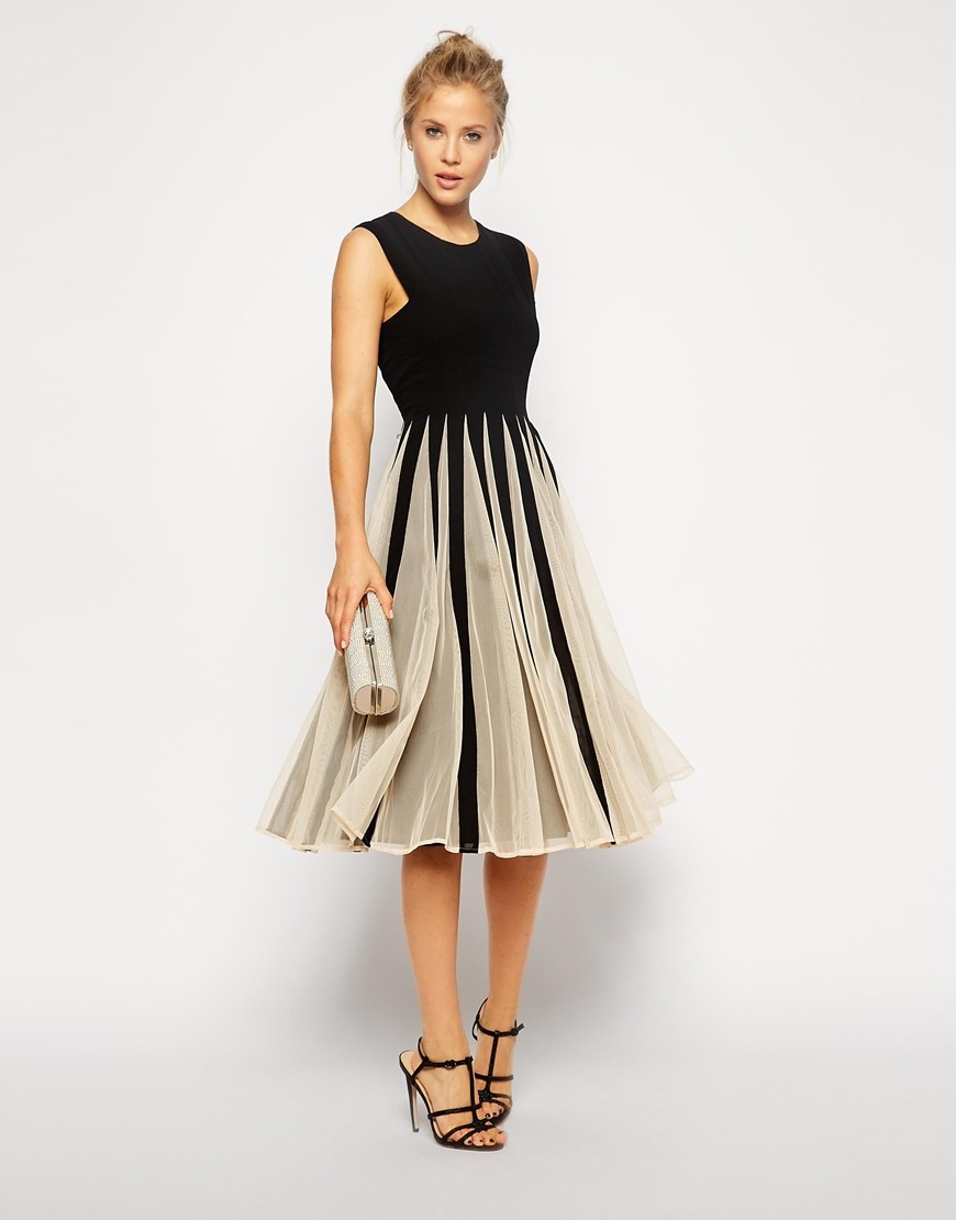 Contrast color chiffon sweet princess dress 1