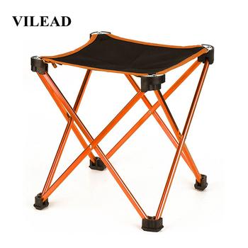 VILEAD 4 kolory składane przenośne krzesło piknikowe aluminium Camping grill plaża wędkowanie zewnątrz siedzenia Ultralight składane twarde 24*24*27cm tanie i dobre opinie Red Blue Orange Sky blue 24*24*27 6cm 34 5*6 5*6 5cm Aluminum alloy PVC Oxford cloth Picnic Camping Self-driving travel