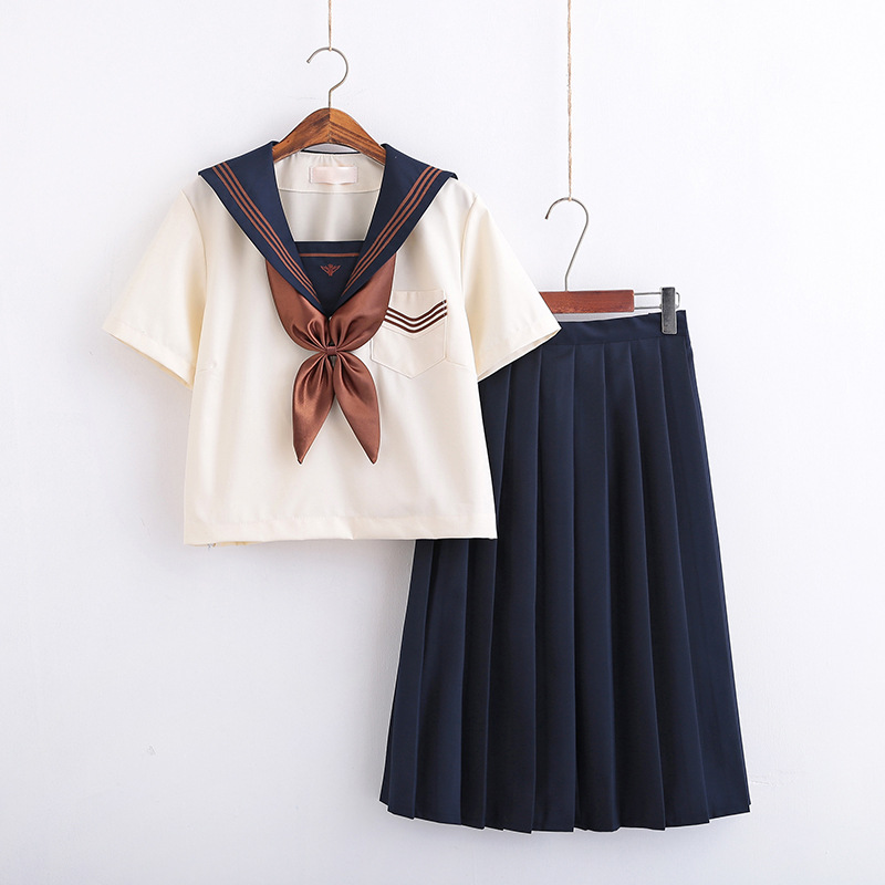 Japanese School Uniform For Girls Kawaii Lolita Sailor Jk Uniforms Cosplay Costumes Female Students College Suit S-XXL C70172AD