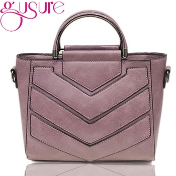 Gusure Pu Leather Handbag Shoulder Tote Women Bag Satchel Messenger Crossbody Bags Soft Black Women's Bag Handbags