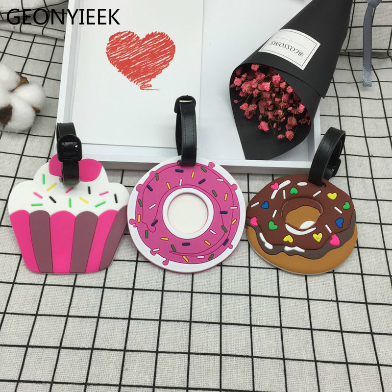 Round Luggage Tags Natural Flower Poppy Travel Accessories Suitcase Name Tags