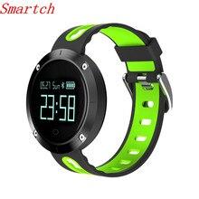 Smartch крови Давление DM58 Смарт Браслет Спорт монитор сердечного ритма IP68 водонепроницаемые часы плавание смарт-браслет для Apple Android