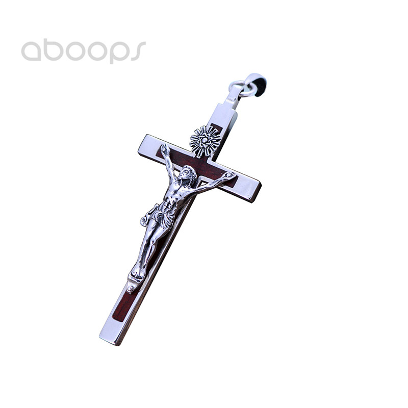 Sterling Silver Themed Jewelry Pendants /& Charms Solid 32 mm 63 mm Antiqued Cross Pendant