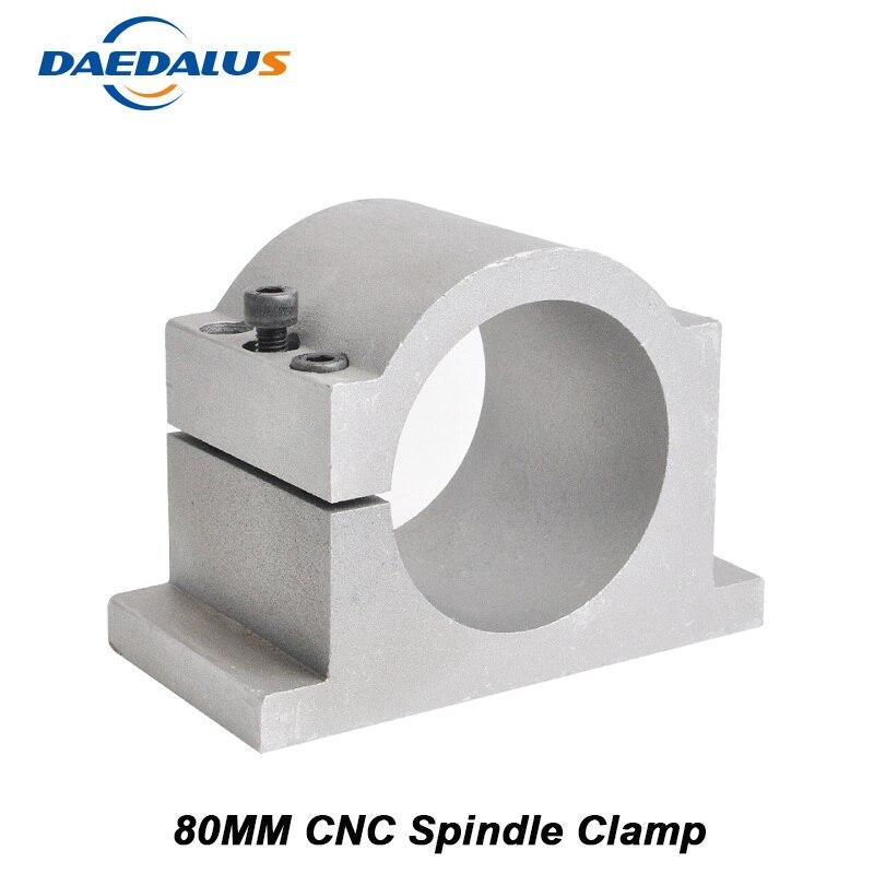 Support de montage de bride de broche de 80MM pour la Machine de moteur de routeur de la broche 0.8KW 1.5KW 2.2KW de CNC