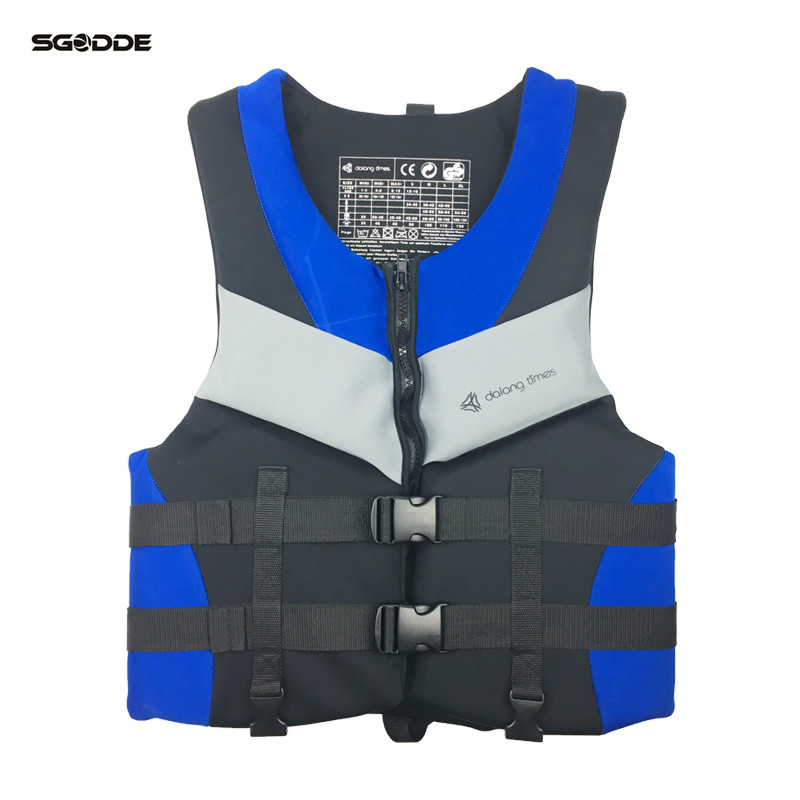 SGODDE adulte 55-85 KG gilet de sauvetage extérieur professionnel gilet de sauvetage taille unique sécurité forte flottabilité accessoires de piscine