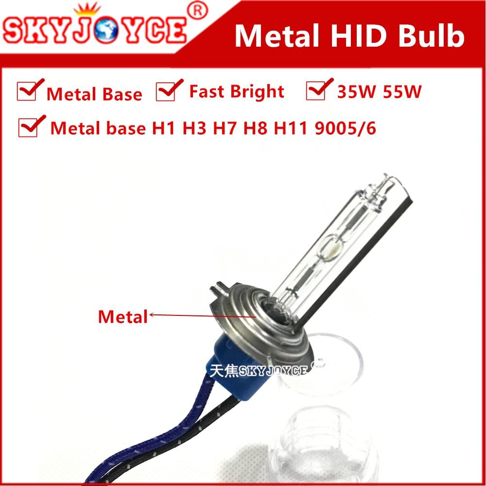 Car External Lamp HID AC 35-55W H7 metal base H1 H3 H11 5500K light bulb xenon white 9005 metal 9006 H8 hid bulb xenon headlight