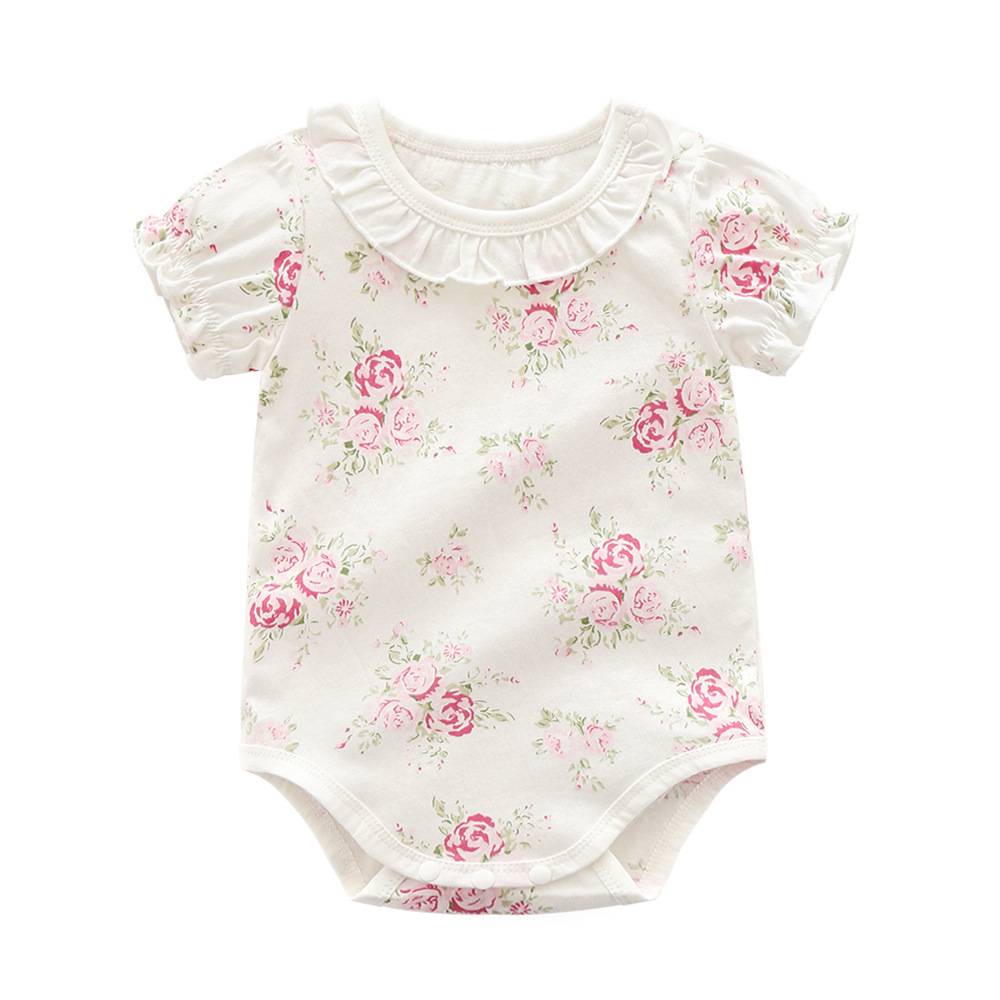 Newborn Baby Girl Clothing Long Sleeve Summer Cotton Cute Bodysuit White Outfit Clothes Baby Girl 0-24m Girls' Baby Clothing