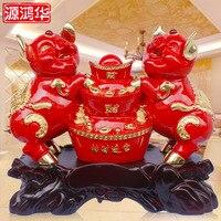 Красный позолота парящий богатство слиток Lucky свинья украшения творческие подарки смолы ремесел открытие магазина