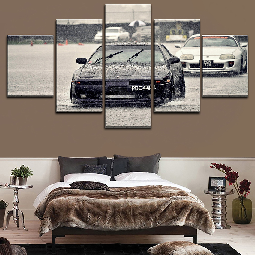 HD Printed Painting On Canvas Wall Art Picture For Living Room 5 Panel Toyota Sports Car Poster Decorative Modular Framework