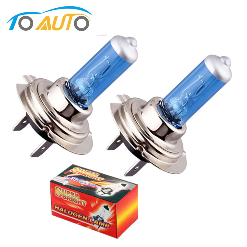 2pcs H7 100W 12V 24V Super Bright White Fog Lights Halogen Bulb Car Light Source Parking High Power Car Headlights Lamp