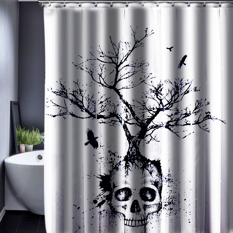 Aliexpress.com : Buy 2016 Skull Shower Curtains Waterproof ...