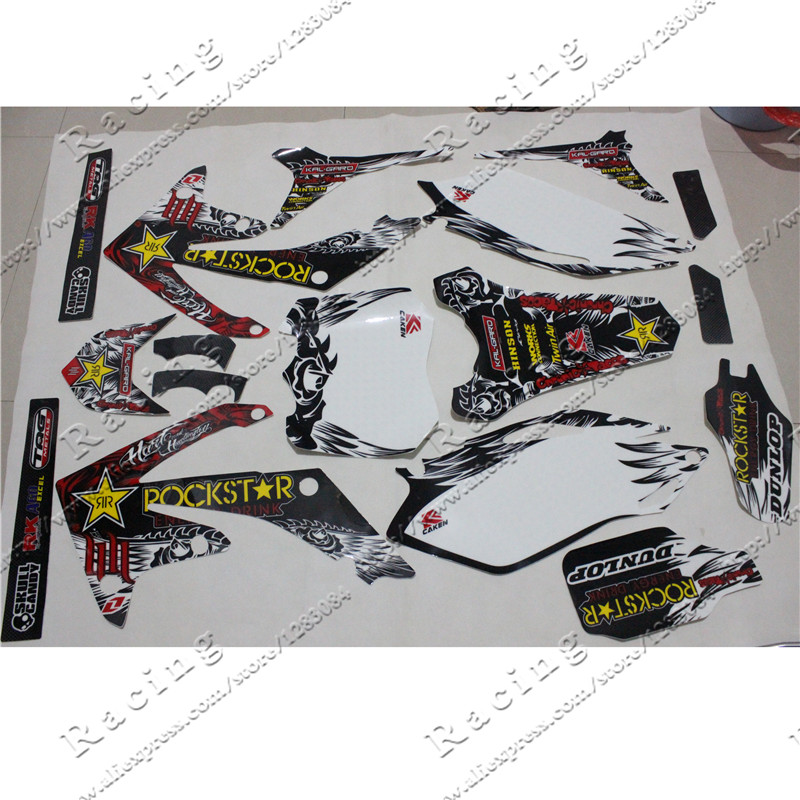 3M Decals Emblems Stickers Graphics CRF250 CRF250R 2010 2011 2012 2013 pit dirt Bike Rockstar Style ghost dirt pro 2013