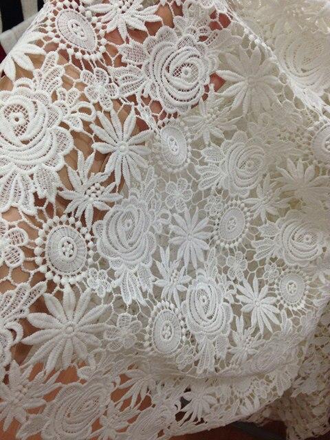 Off white gehäkelten blumenmuster spitze stoff, braut spitze stoff ...