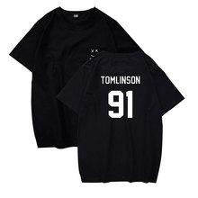 fbc0b11d546f BTS Inghilterra Cantante Louis T-Shirt Donne uomini Vestiti Tomlinson 91  Stampa Manica Corta In Cotone di Modo XXS Alla 4XL