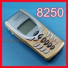 Один год гарантии 8250 мобильный телефон Nokia 8250 дешевый телефон золотой+ аккумулятор+ зарядное устройство+ подарок