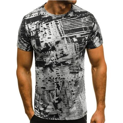 Summer T Shirt Men Military Printing O-Neck Top Tee Casual Fashion tee shirt homme Brand Fitness Tshirts Male Short Sleeve M-3XL Karachi