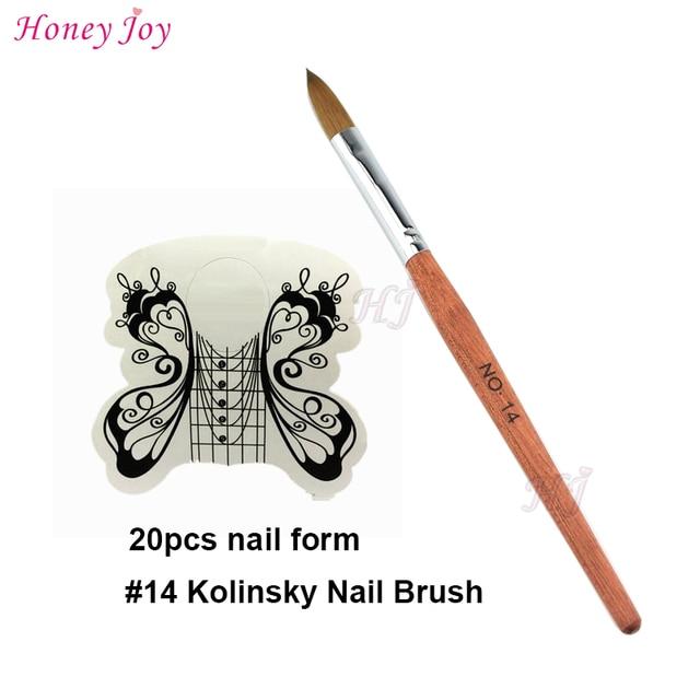 Fine Hair Acrylic Nails Tool Kit Set SIZE no.14 Kolinsky Sable ...