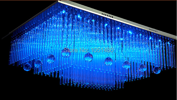 New Modern Square Crystal Lamp Remote Control Chandelier Living Led Lighting In Chandeliers From Lights On Aliexpress Alibaba Group