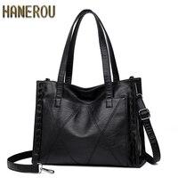 Fashion Leather Women Bag 2019 Luxury Brand Ladies Handbags Large Vrouwen Messenger Bags Casual Tote Crossbody Bag New Sac Femme
