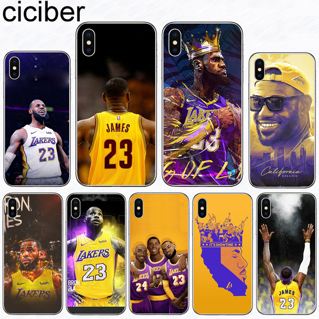 33da425cfd9776 ciciber Phone Cases Basketball LeBron James Soft Silicone Clear TPU Back  Cover Fundas For Iphone 8 7 6 6S Plus 5S SE X XR XS MAX