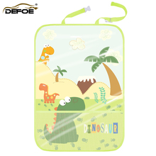 organizer car bag holder cartoon seat storage Car anti-kick Child safety anti-play mat