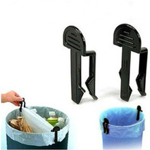 Convenient 2Pcs Chic Fixed Clip Clamp Holder For Garbage Can Trash Bag Home Tool