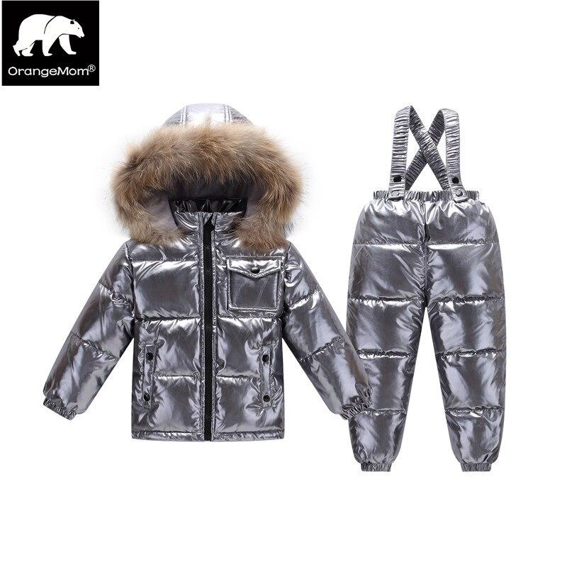 Nuevo 2018 Orangemom tienda oficial conjuntos de ropa infantil de invierno pato down niños ropa, 2 T-6 t niños abrigos para niñas chaquetas