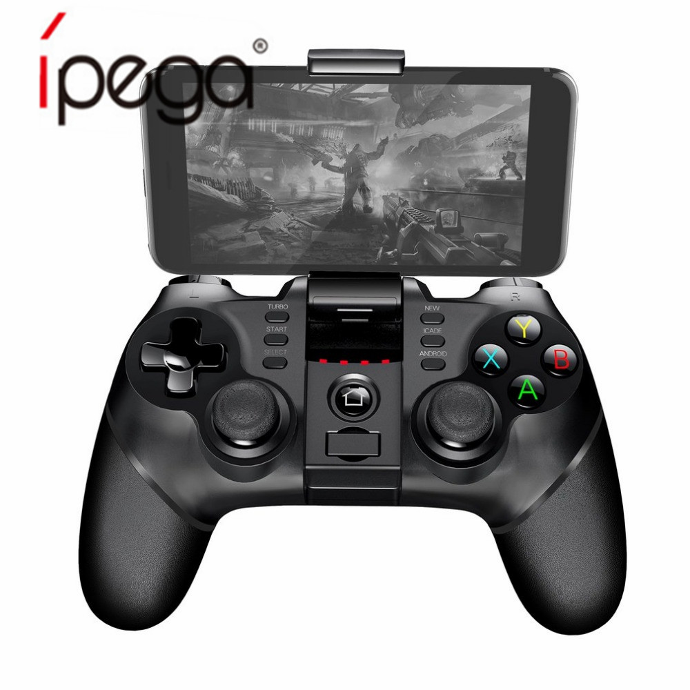 IPEGA PG-9077 PG 9077 Wireless Gamepad Bluetooth Joystick Game Controller with TURBO Function for Android/ iOS Tablet PC Phone ipega ios gamepad pc bluetooth wireless smart phone switch controller with lcd screen mobile game pad joystick android pg 9063