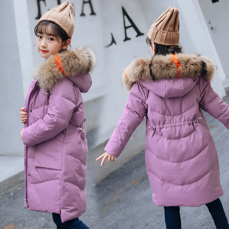 New Winter Down Jackets For Girls Children Coats Girls Clothes Long Sleeve Kids Outerwear 6 8 10 12 14 Years Kids Coats girls winter jackets long woolen coats for kids girls casual autumn children s clothes teenage clothing for girls 6 8 12 years