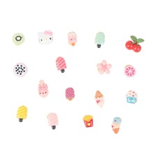 50pcs Wholesale Cute Small Resin Dogs Hair Accessories Fruit Flower Shapes Dog Bows with Rubber Bands for Pet Grooming
