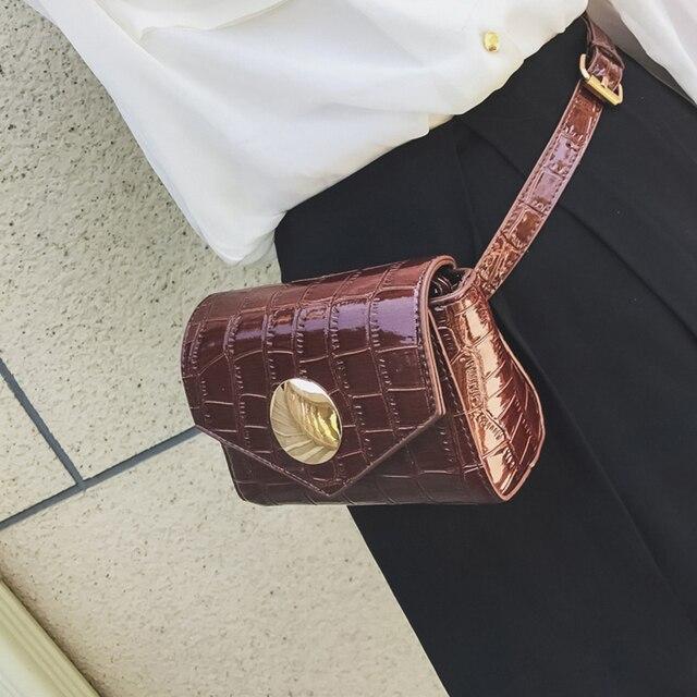 7243d81c751 2019 Stone Pattern Waist Bags Women Designer Fanny Pack Fashion Belt Bag  Female Mini Waist Pack Pu Leather Messenger Bolsa New