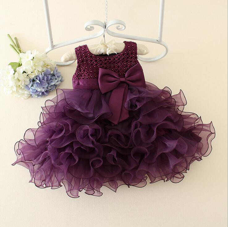 Retail Luxury Baby Girl Plaid Checks Bows Tutu Gown Dress 1 5years