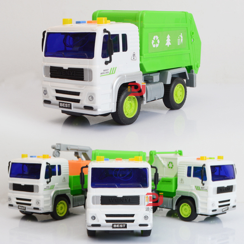 1:16 Acousto-optic Engineering Vehicles Garbage Trucks Waste Dumpers Childrens Kids educational Toy Car As Birthday Present