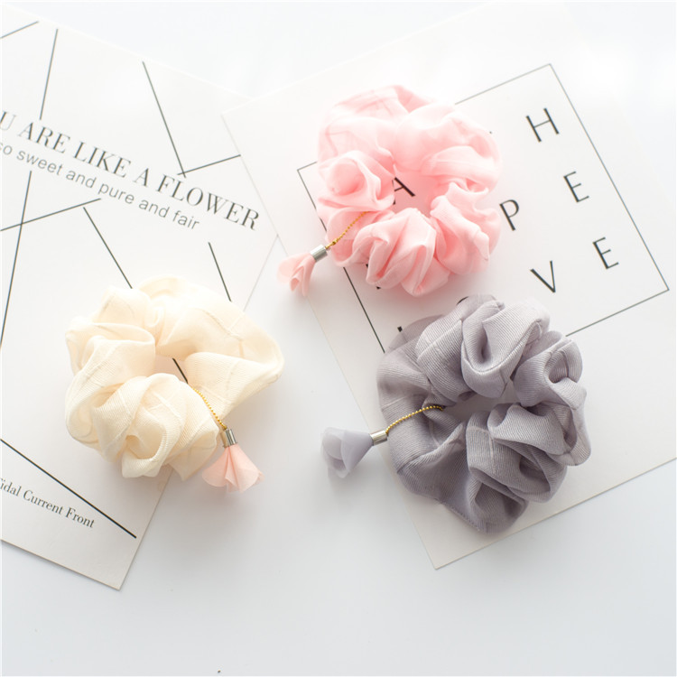 Girls pure color hair adorn New cross hair lady Fashion Rope headdress Flower Rubber Bands Small Adorn Article--A bag of five