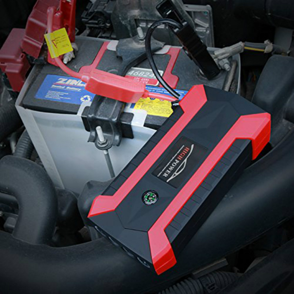 Portable car jump starter power bank 89800mAh Car battery Jump Starter Booster Charge Cell 4 USB Charge Pal Lamp(China)